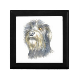 Hairy terrier small square gift box