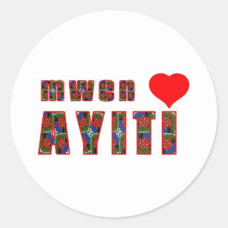 haiti005 classic round sticker