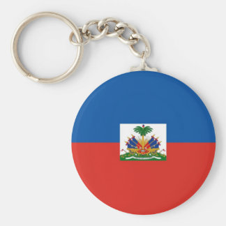 Haiti Basic Round Button Key Ring