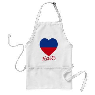 Haiti civil Flag Heart Apron