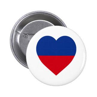 Haiti civil Flag Heart Pinback Button