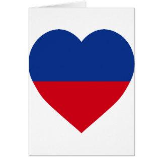 Haiti civil Flag Heart Greeting Card