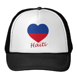 Haiti civil Flag Heart Trucker Hat
