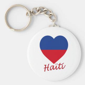 Haiti civil Flag Heart Key Chain