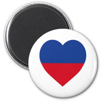 Haiti civil Flag Heart Fridge Magnets