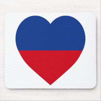 Haiti civil Flag Heart Mouse Pads