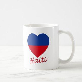 Haiti civil Flag Heart Mugs