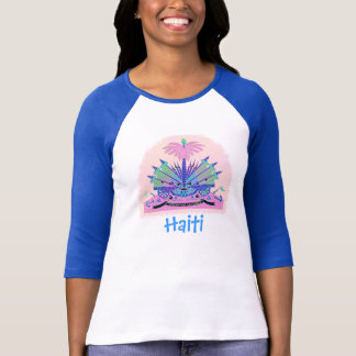 Haiti Coat of Arms, Haitian Flag Colors T-Shirt