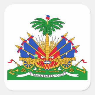 Haiti Coat of Arms Square Sticker