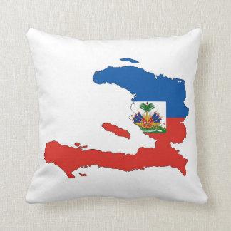 haiti country flag map shape symbol throw pillow
