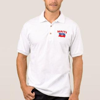 Haiti Flag 4 Polo T-shirts