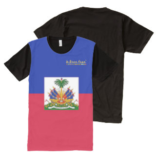 Haiti Flag All Over T Shirt All-Over Print T-Shirt