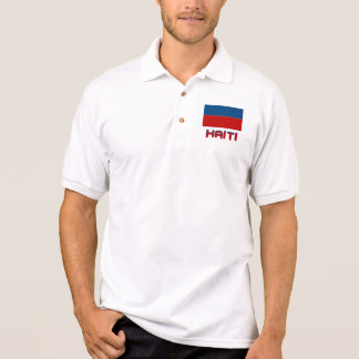 Haiti Flag  Basic Polo