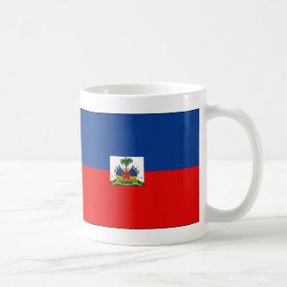 Haiti flag basic white mug