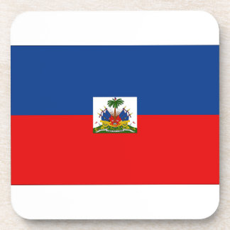 Haiti Flag Beverage Coaster