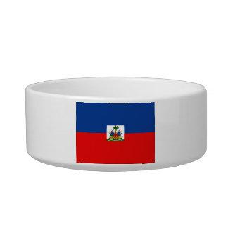 Haiti Flag Cat Water Bowl