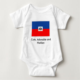 haiti-flag, Cute, Adorable and Haitian Baby Bodysuit