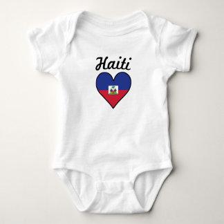 Haiti Flag Heart Baby Bodysuit