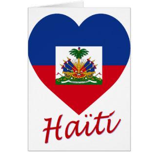 Haiti Flag Heart Greeting Card