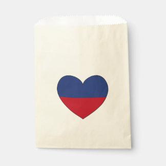Haiti Flag Heart Favour Bag