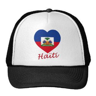Haiti Flag Heart Hat