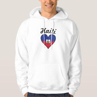 Haiti Flag Heart Hoodie