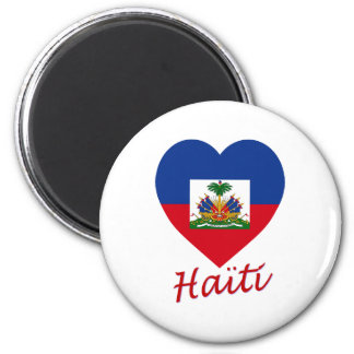 Haiti Flag Heart Refrigerator Magnet