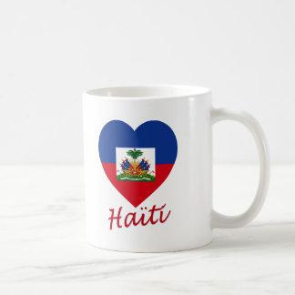 Haiti Flag Heart Coffee Mugs