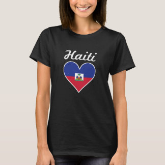 Haiti Flag Heart T-Shirt