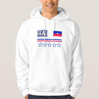 Haiti Flag Hoodie