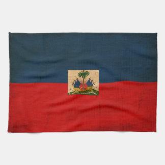 Haiti Flag Kitchen Towel