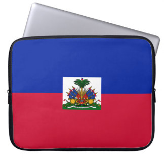 Haiti Flag Laptop Sleeve