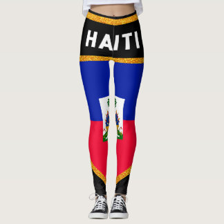 Haiti Flag Leggings