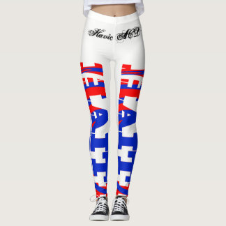 HAITI FLAG LETTERING LEGGINGS HAVIC ACD