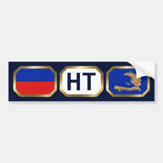 Haiti Flag Map Code Bumper Sticker Car Bumper Sticker