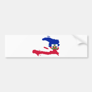 Haiti Flag Map HT Bumper Sticker
