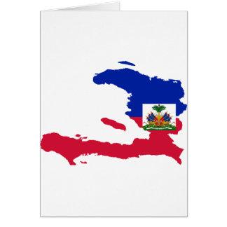 Haiti Flag Map HT Greeting Card