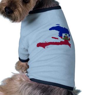 Haiti Flag Map HT Pet Tee Shirt