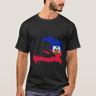 Haiti Flag Map T-Shirt