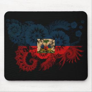 Haiti Flag Mouse Pad