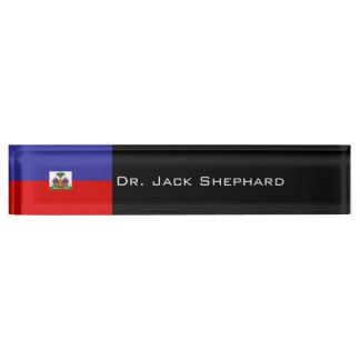 Haiti Flag Name Plate