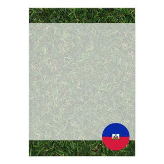 Haiti Flag on Grass 13 Cm X 18 Cm Invitation Card