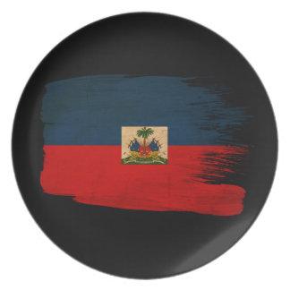 Haiti Flag Dinner Plate