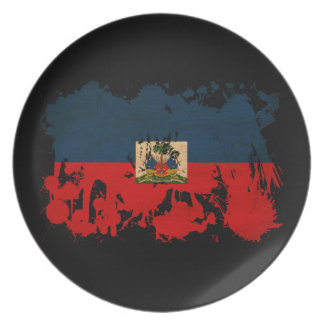 Haiti Flag Plates