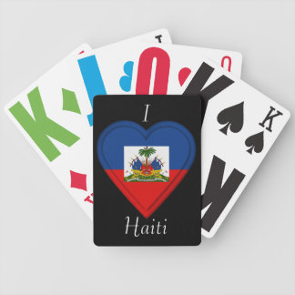 Haiti flag bicycle poker deck