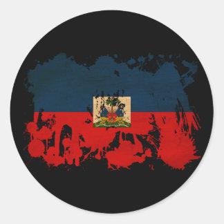 Haiti Flag Round Sticker