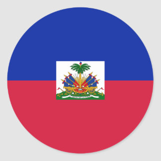 Haiti Flag Round Sticker