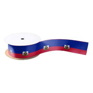 Haiti Flag Satin Ribbon