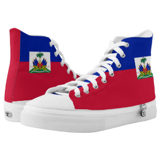 Haiti Flag Shoe Printed Shoes