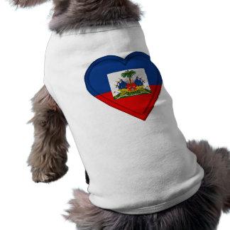 Haiti flag sleeveless dog shirt